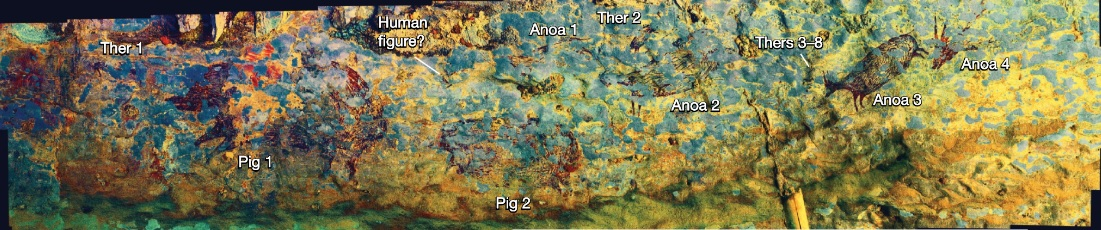 The 44.000 Years Old Cave Painting in Sulawesi, Indonesia